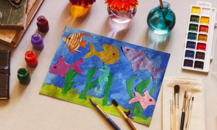 Kolorowe akwarium- prosta praca plastyczna