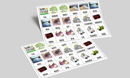 Sylabowe domino- czytanie metodą sylabową
