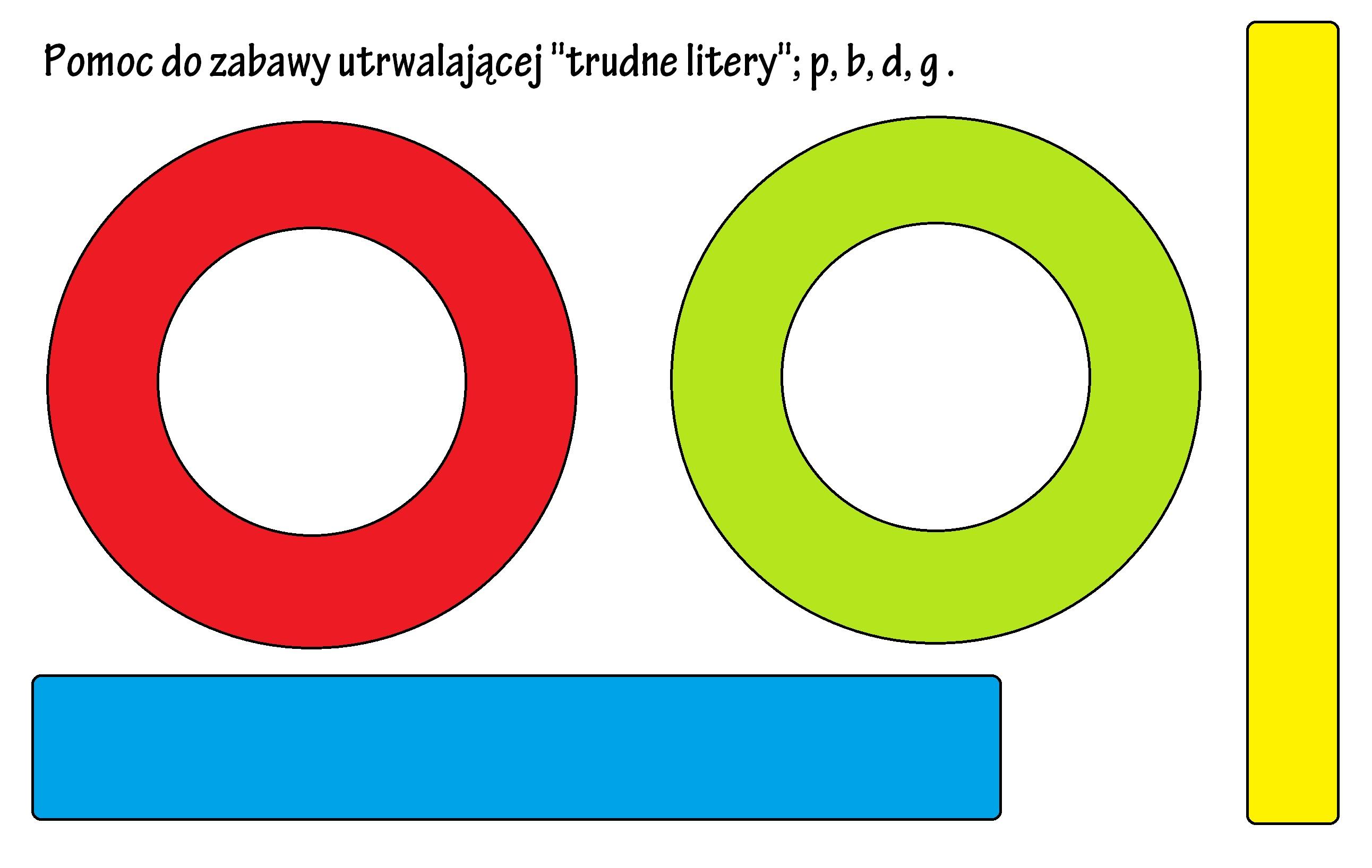 Pomoc do utrwalenia liter p, b, d, g