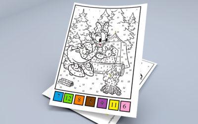 Matematyczne kolorowanki – karty pracy
